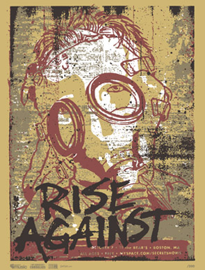 Rise Against mySpace poster