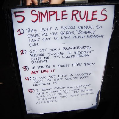 5 Party Rules