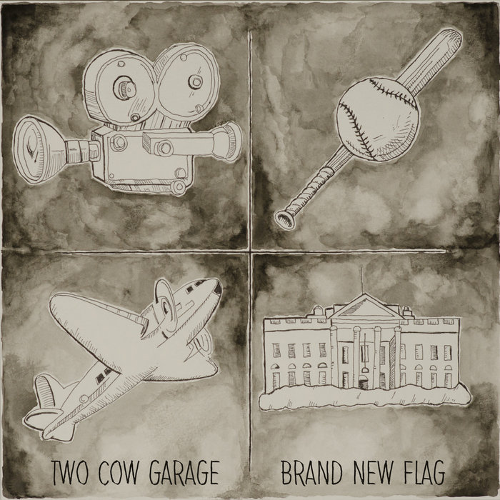 Two Cow Garage - Brand New Flag - cover art