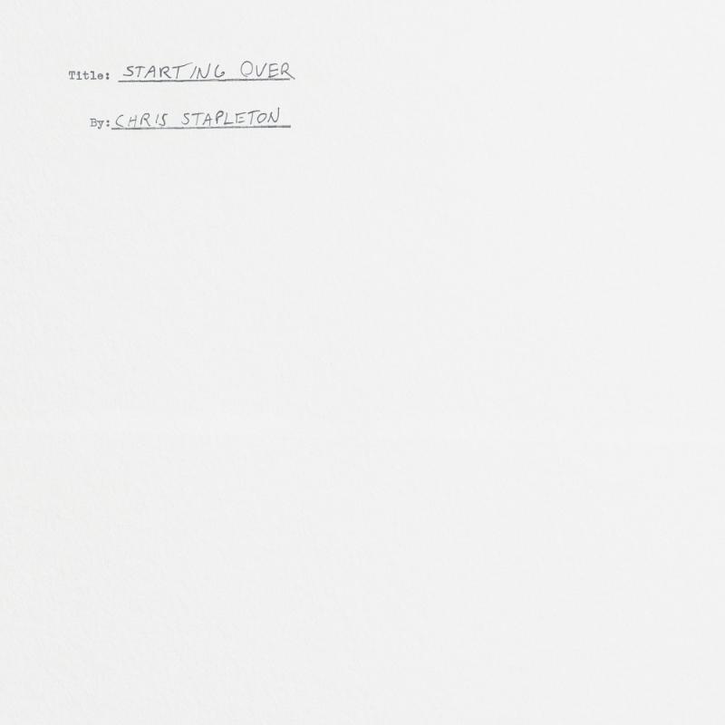 Chris Stapleton - Starting Over (cover art)