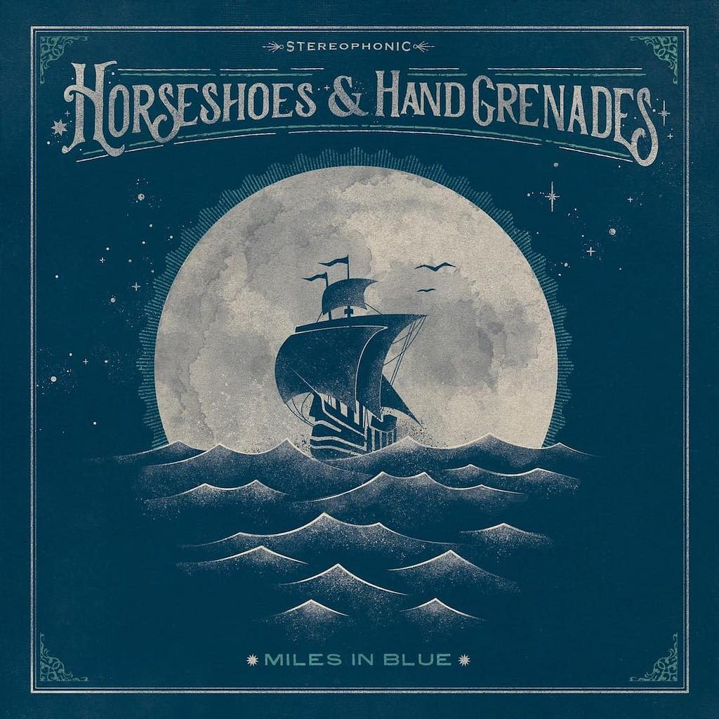 Horseshoes and Hand Grenades – Miles in Blue (cover art)